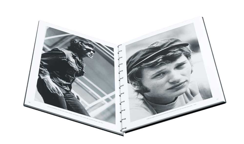 livre photo johnny hallyday ouvert